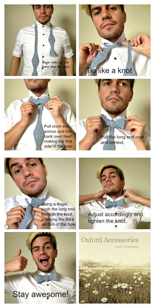 bow tie tutorial photo with captions