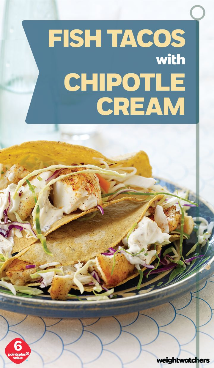 Turn Cod into delicious Chipotle Fish Tacos in just 10 minutes, a quick & easy meal thats great year-round.