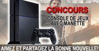 Concours Console PlayStation 4 avec une (1) manette DUALSHOCK