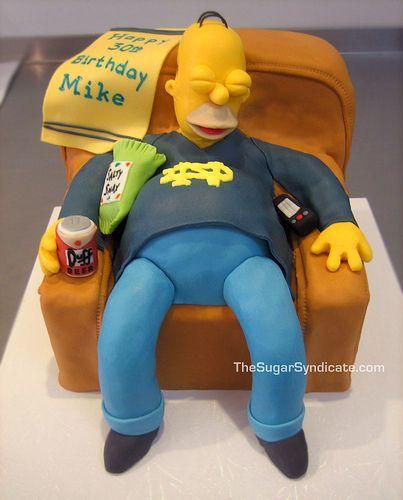 Homer Simpson Birthday Cake On Flickr Photo Sharing We Heart It ...
