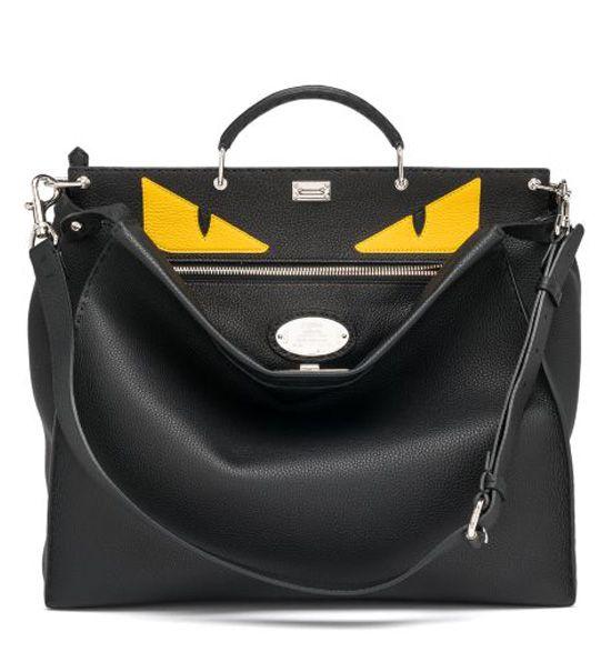 Fendi Peekaboo Vitello Leather Bag Black              $298.00