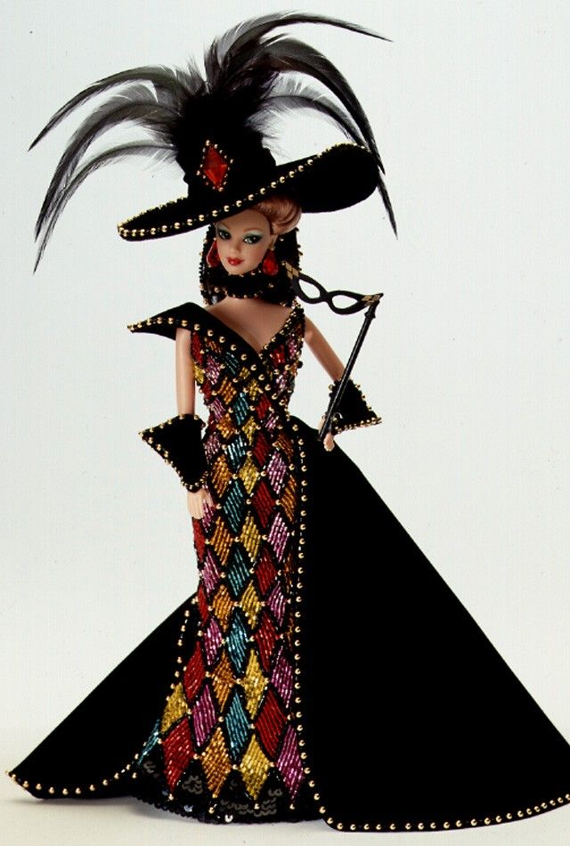 Masquerade Ball Barbie Doll - 1993 Collectible Designer Dolls - Bob Mackie - Barbie Collector