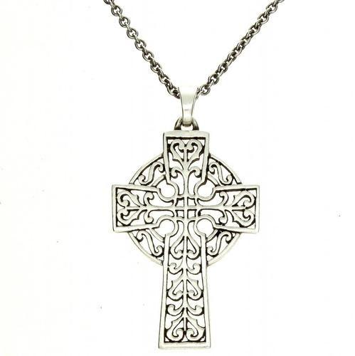 a7f3e34230 James Avery 925 Sterling Silver Adorned Celtic Cross Pendant - Necklace 20