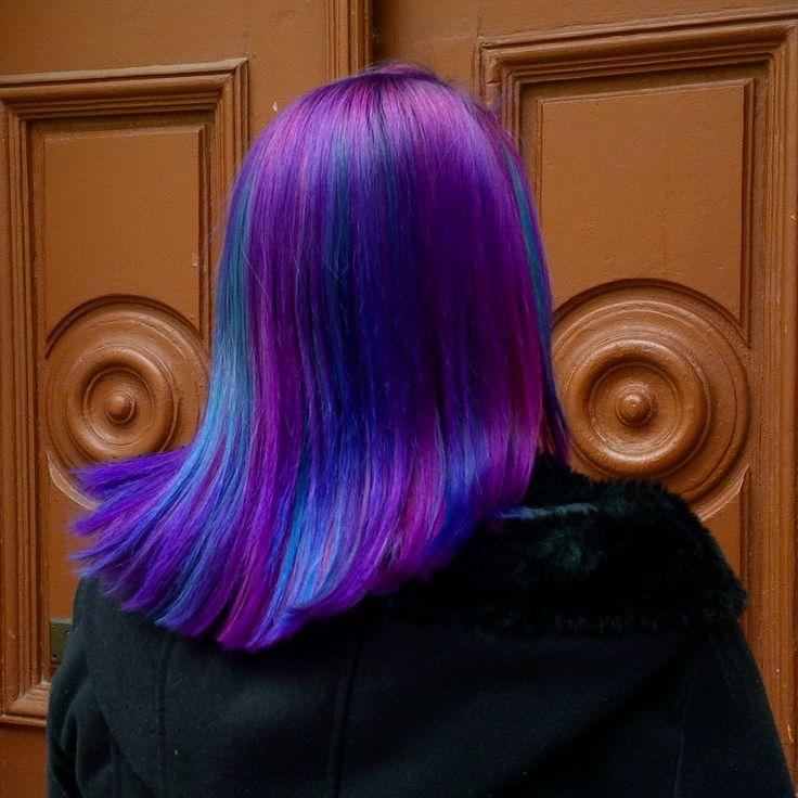 Directions violet,plum,dark tulip,neon blue, midnight blue, alpine green