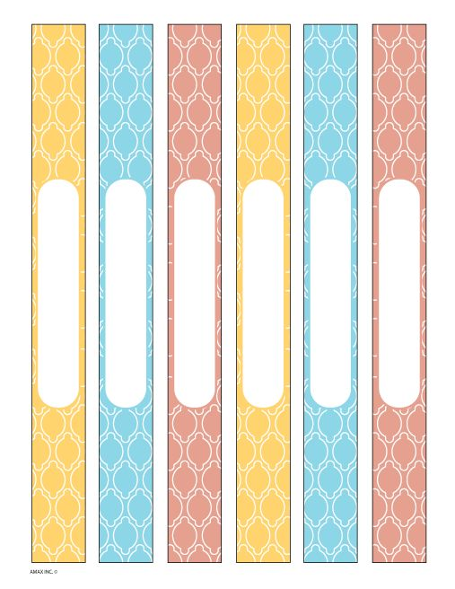 notebook spine template 1 inch