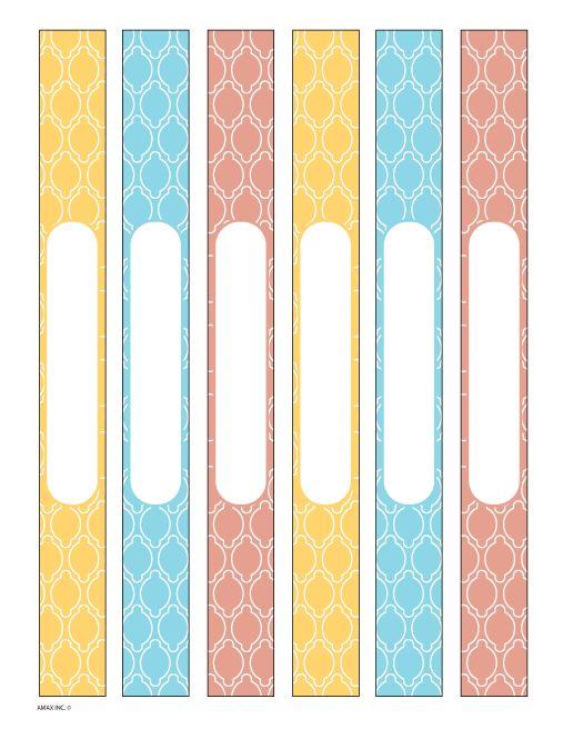 3 inch binder spine template word