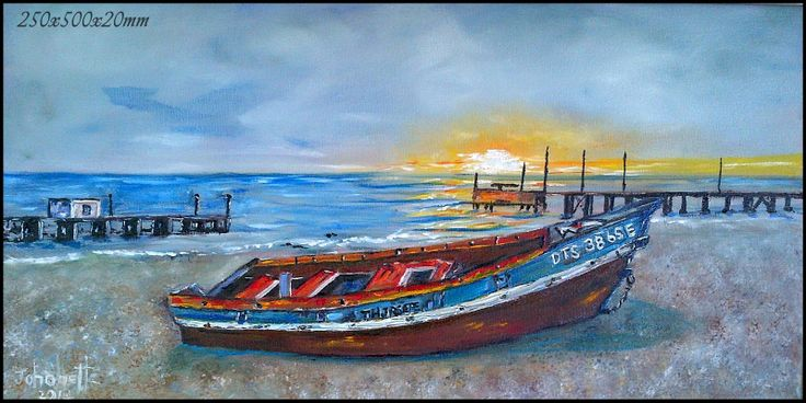 Port Nolloth Oil Painting  Stretched Canvas 250x500x20mm (johanettevandeventer@gmail.com) (MY page where you can see all my paintings for sale:https://www.facebook.com/pages/Art-of-being-feminine/216215068495275?ref=hl https://www.facebook.com/media/set/?set=a.462889420494504.1073741855.216215068495275&type=3) Foto Johan Zwiegers