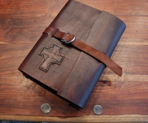 Book Cover Craft Quest : Folklander rustic leather bible cover craft lore