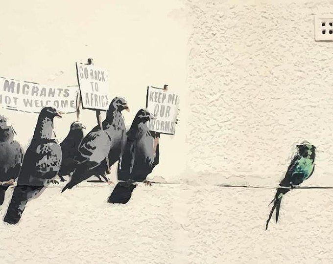 Pin Auf Banksy For President