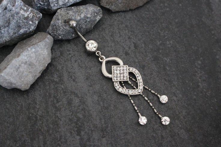 Fancy Crystal Navel Ring