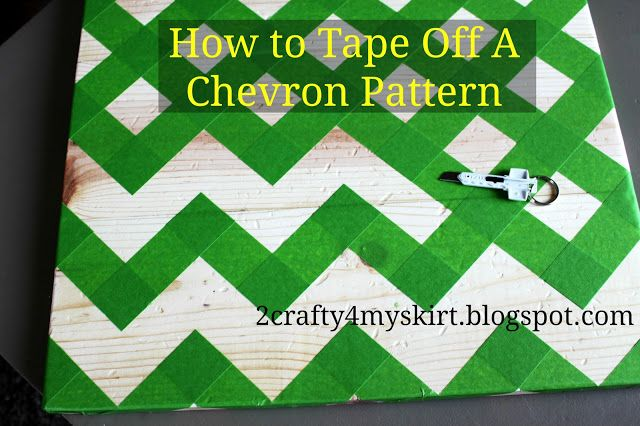 2 Crafty 4 My Skirt: How To Tape Off A Chevron Pattern