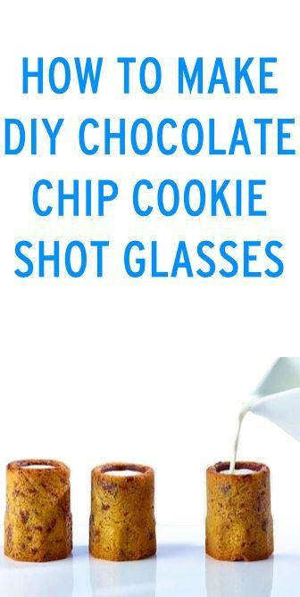 How to make DIY chocolate chip cookie shot glasses! #recipe #howto