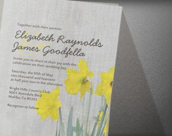 Daffodils Wedding Invitation