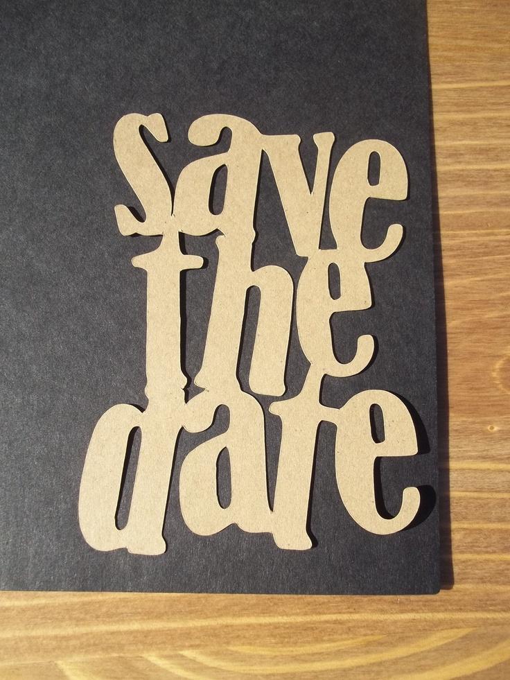 save the date die cut DIY 17