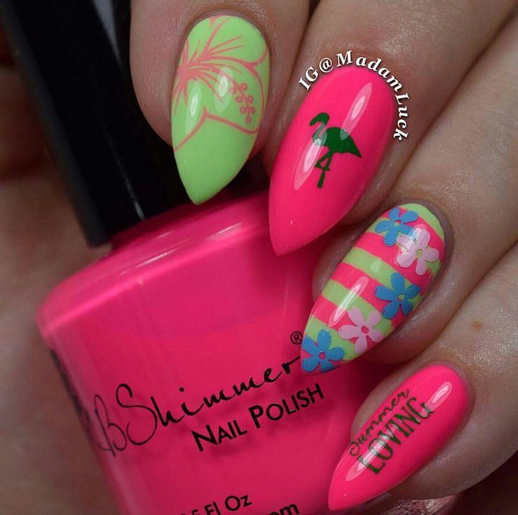 Neon Nail Polish Online: 1000+ Ideas About Neon Pink Nail Polish On Pinterest