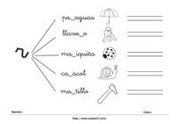 Ficha para imprimir iniciación a la lectura - letra R