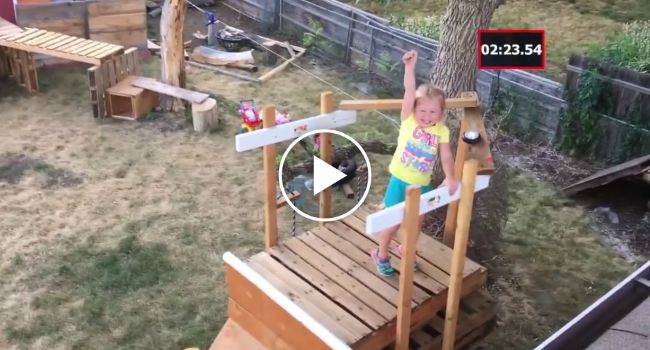Dad Of The Year Built His Five-Year-Old Daughter An Amazing Backyard 'Ninja Warrior http://www.iconicvideos.biz/dad-year-built-five-year-old-daughter-amazing-backyard-ninja-warrior/