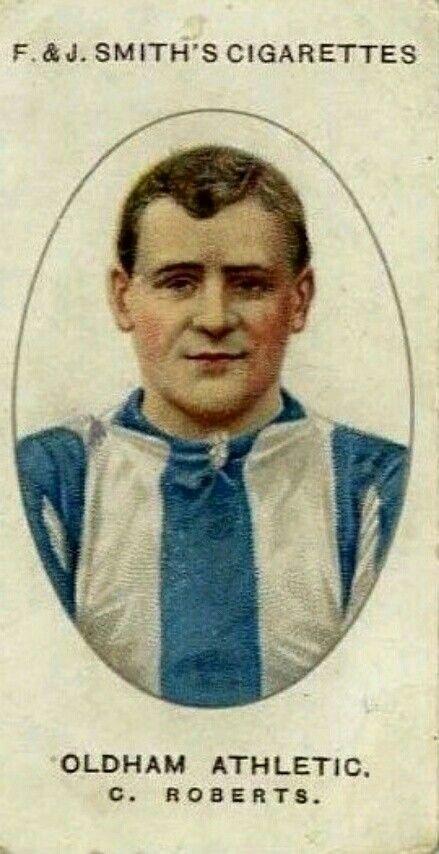 Charlie Roberts of Oldham Athletic in 1913.