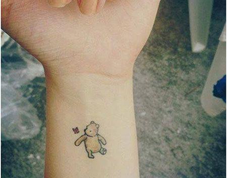 teddy bear with balloons tattoos