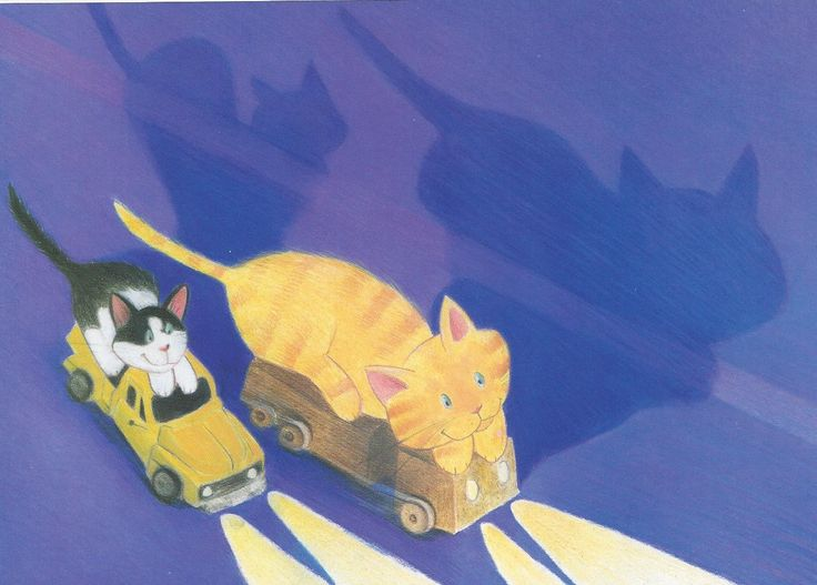A postcard of Nat the Cat Can Sleep Like That by Victoria Allenby and Tara Anderson.