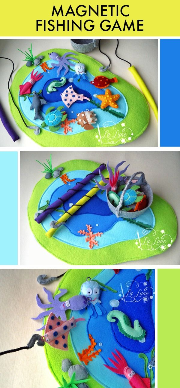 Magnetic Fishing Game #toddler #preschool #preschoolers #prek #homeschool #homeschooling #daycare #felt #game #affiliate