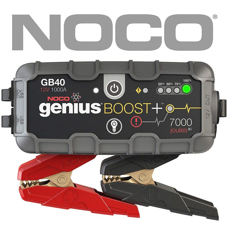 Compact, yet powerful lithium jump starter rated at 1,000