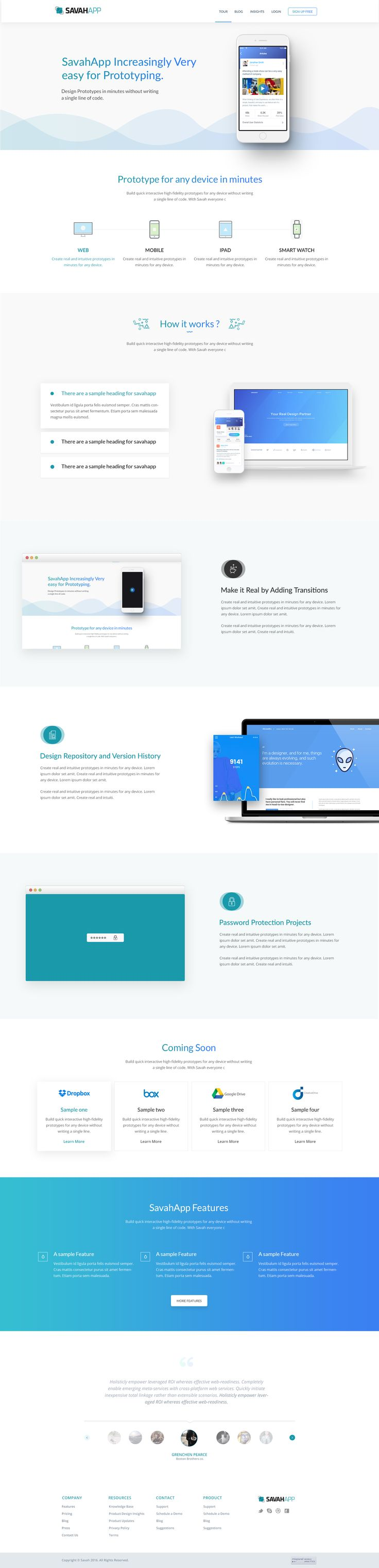 Landing page prototyping v5