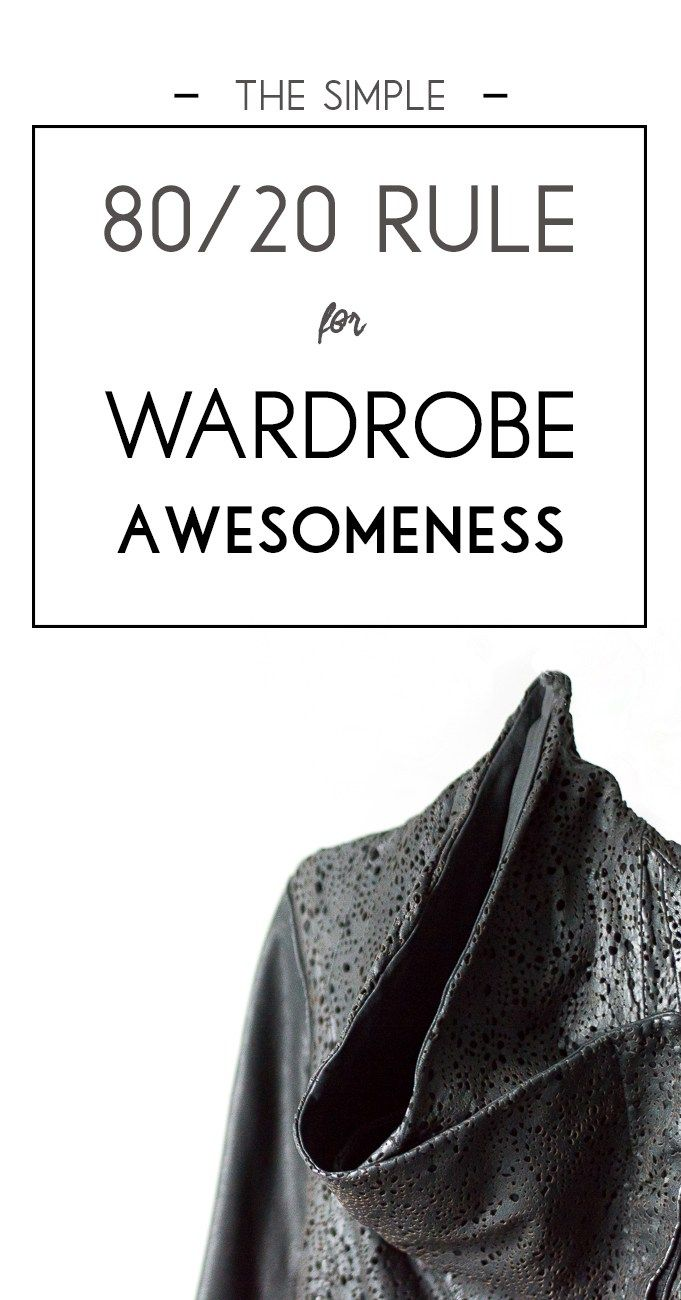 How to incorporate trends into your wardrobe without losing your personal style in the process! Pin this simple 80/20 rule for wardrobe awesomeness!