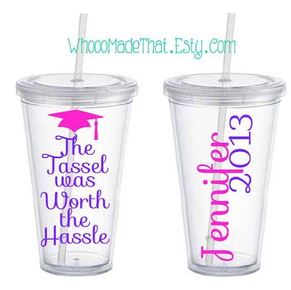 Personalized Tumbler   Graduation Gift  The by WhoooMadeThat, $12.00