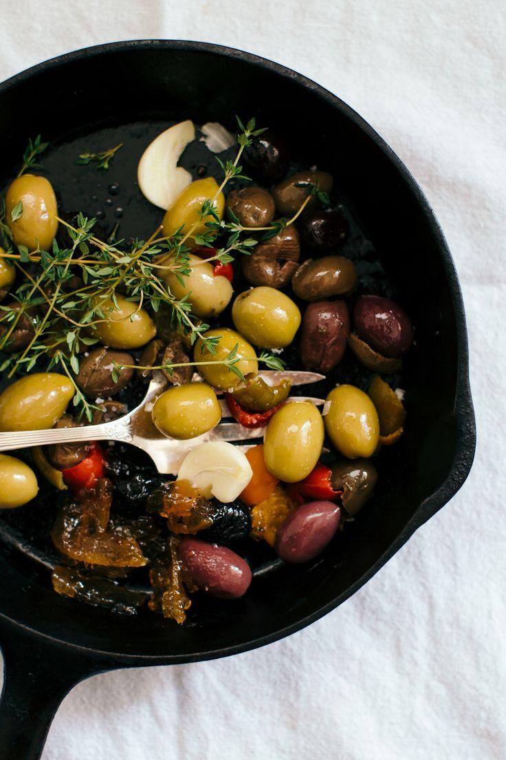 Warm Olives Recipe with Orange