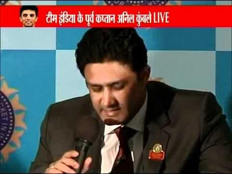 Anil Kumble bids adieu to Rahul Dravid