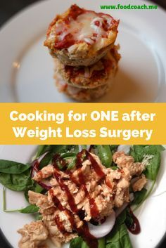 Cooking for One after Weight Loss Surgery. #wls Tips for a healthy bariatric lifestyle when you live by yourself! Several recipes perfect for one and easy to freeze and reheat. #bariatricliving #vsg #rny #sleeve #bypass #foodcoachme