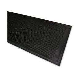 Genuine Joe Scraper Outdoor Rubber Mat, Traps Dirt/Grime, 3 by 5-Feet, Black by Genuine Joe. $51.68. Outdoor mat is ideal for any outside entryway. The superior molded tread aggressively scrapes a shoe clean of dirt and grime and traps it into the base of the mat. Mat contains a high percentage of recycled rubber. Outdoor mat is ideal for any outside entryway. the superior molded tread aggressively scrapes a shoe clean of dirt and grime and traps it into the bas...
