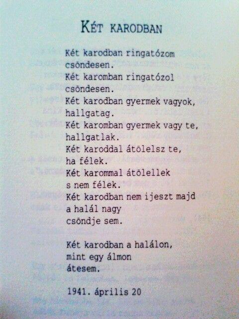 Radnóti Miklós Két Karodban, 1941. április 20, Blind Myself