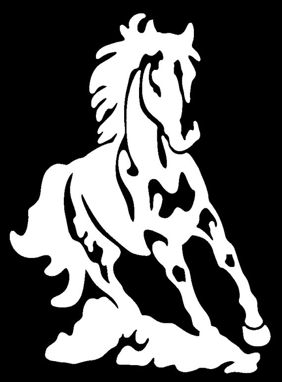 Running Horse Decal by TwinCreeksPhoto on Etsy, $16.00