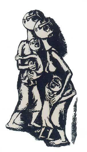 ΚΑΤΡΑΚΗ ΒΑΣΩ ''Μάνα'' 1958-59 Χάραξη σε πέτρα
