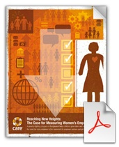 Reaching New Heights: The Case for Measuring Women's Empowerment (new white paper from CARE).