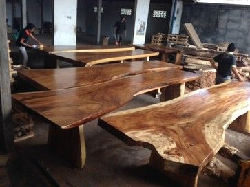 181 best images about dining table on pinterest - Table cuisine bois exotique ...