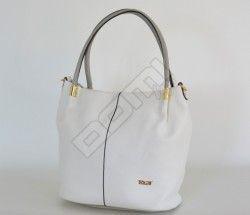 BRIGHT Fashion kabelka handbag velká přes rameno smetanová