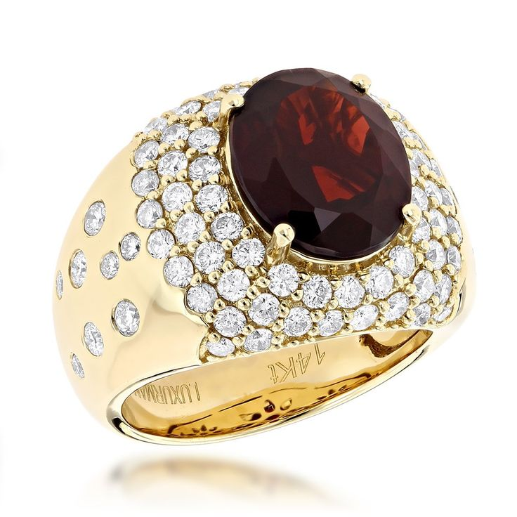 Fine Jewelry Genuine Garnet & Lab Created White Sapphire 2 Pc- Boxed Set In 14K Gold Over Silver uhm4uOYePT