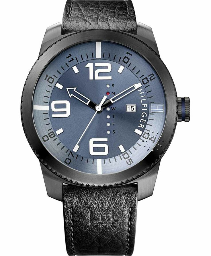 TOMMY HILFIGER Ash Black Leather Strap Η τιμή μας: 132€ http://www.oroloi.gr/product_info.php?products_id=37932