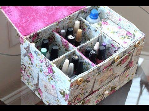 DIY - Porta esmaltes artesanal - Saiba como fazer