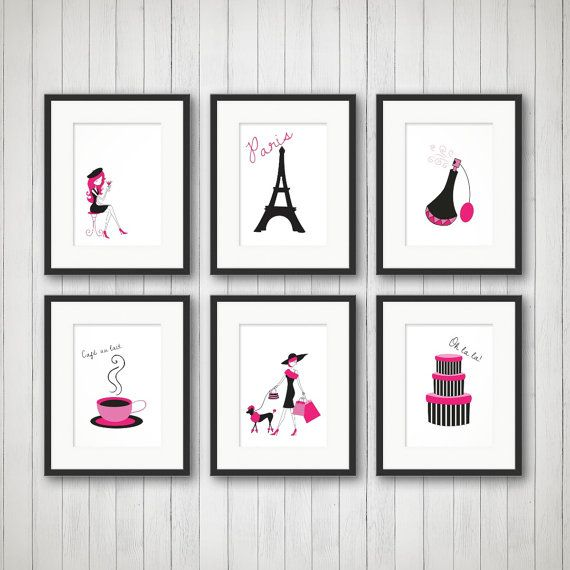 Paris Decor Teen Room Decor Fashion Print By SimplyLoveCreations