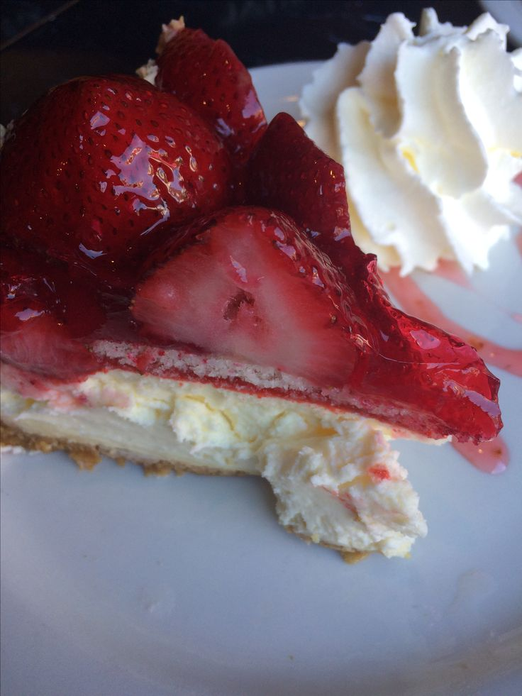Strawberry cheesecake from Oh So Good