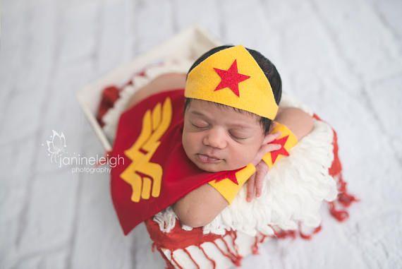 Wonder Women Newborn Superhero Costume for Girl  Photography