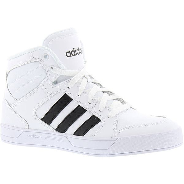 adidas Raleigh Mid ($70) ❤ liked on Polyvore featuring shoes, white, adidas, adidas shoes, white shoes, wide shoes and adidas footwear