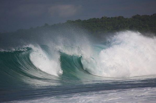 Wave in Ombak Tujuh Ujung Genteng Sukabumi Jawa Barat Indonesia