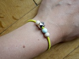 PERLY POP ARMBAND ::: NEON YELLOW made by Frau Sieben
