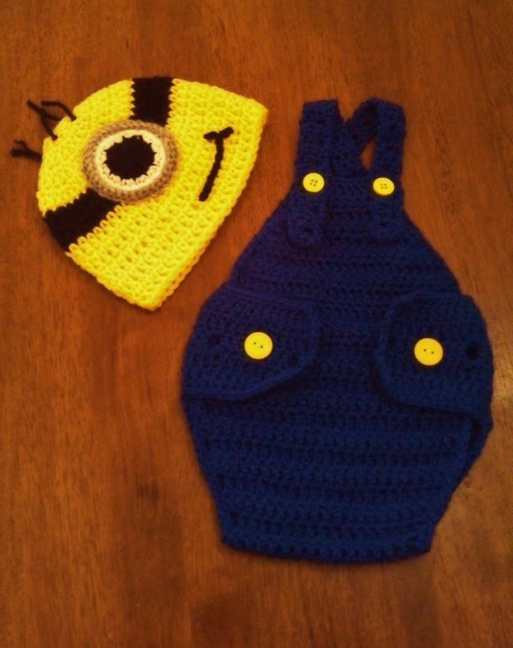 Free Crochet Pattern For Minion Hat And Overalls : Butterflys Creations: Minion Beanies Crochet minions ...
