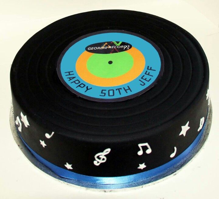Music Record Birthday Cakes